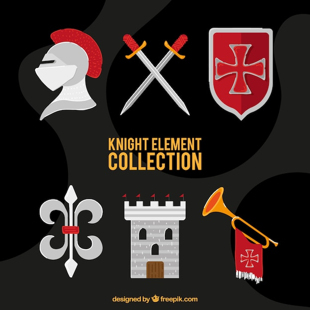 Elegant medieval element collection