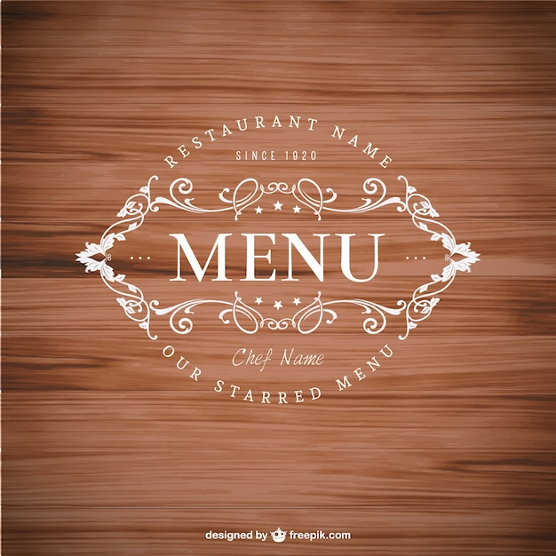 elegant menu badge vector free download