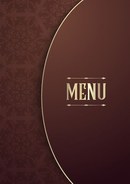 elegant menu cover design vector