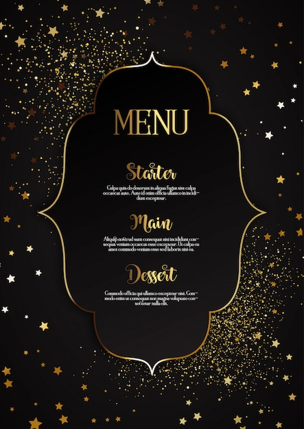 Elegant menu design Premium Vector