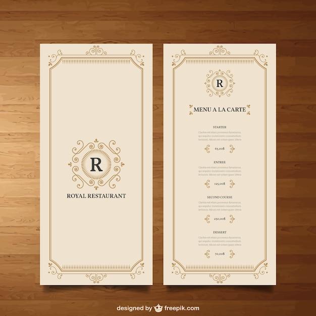 elegant menu vector free download