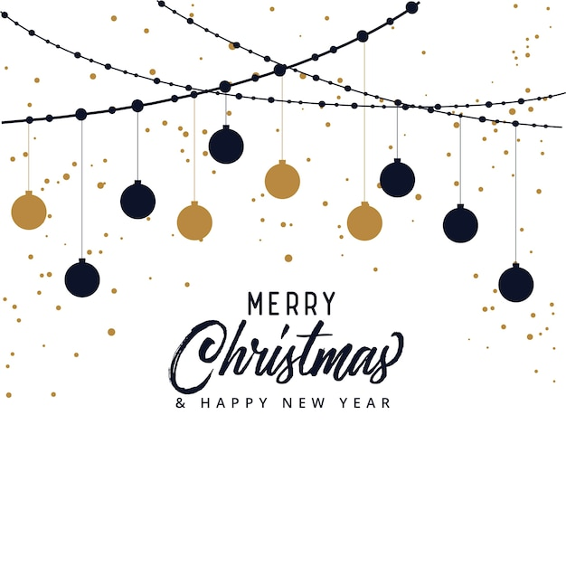 elegant merry christmas festival background Free Vector