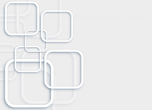 Elegante sfondo grigio minimale con quadrati 3d Vettore gratuito