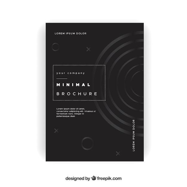 Elegant minimalist brochure Free Vector