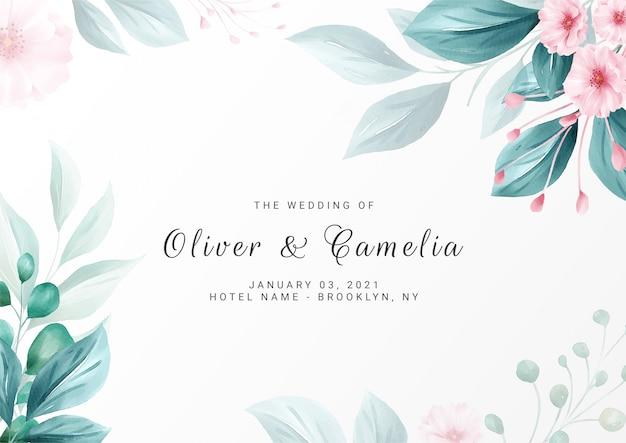 elegant minimalist floral background for wedding