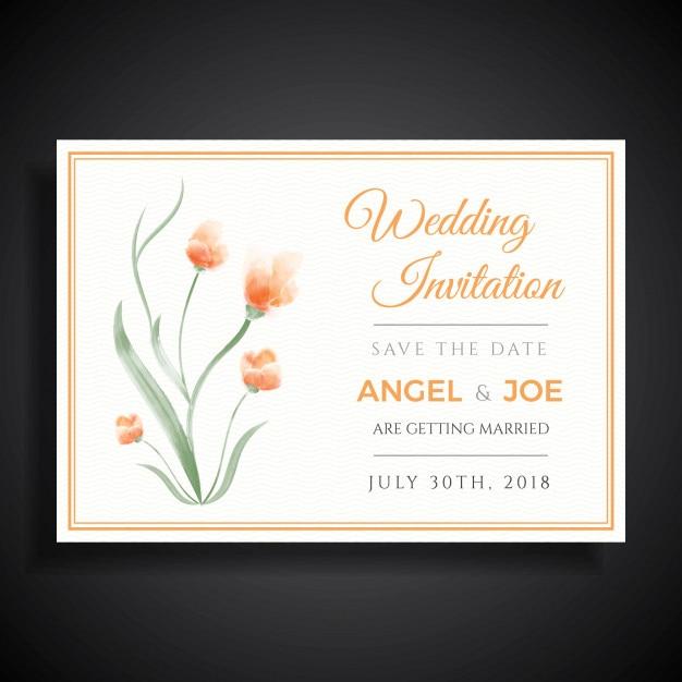 Elegant minimalist wedding invitation template design vector elegant minimalist wedding invitation template design premium vector stopboris Images