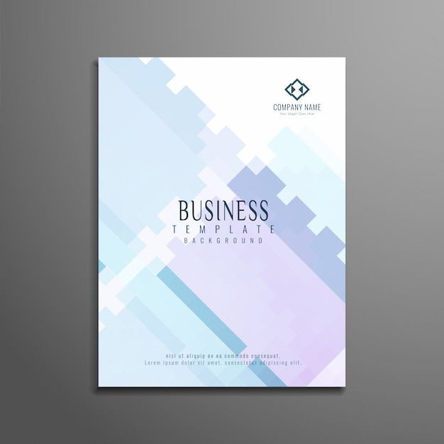 Elegant modern business brochure template