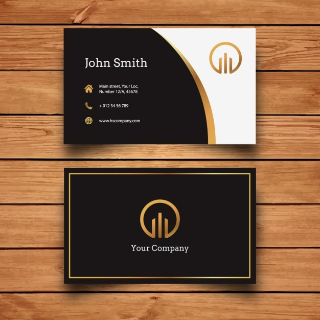 Elegant Modern Business Card Design Vector Free Download