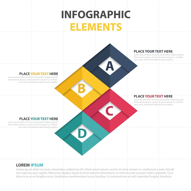 Elegant modern business infographic template