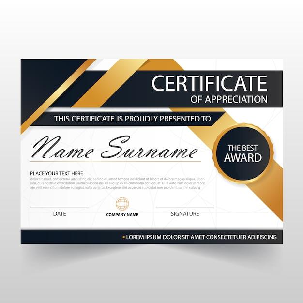Elegant modern horizontal certificate illustration Free Vector