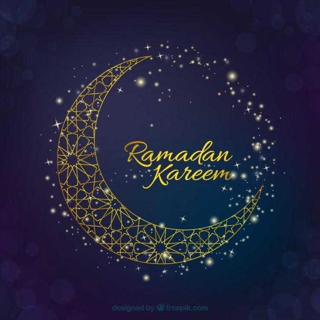 elegant moon ramadan background vector free download