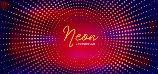 Elegant neon background Premium Vector