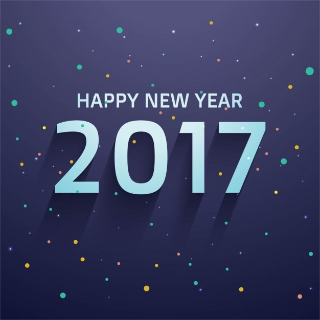 Elegant new year 2017 background with colored\ circles