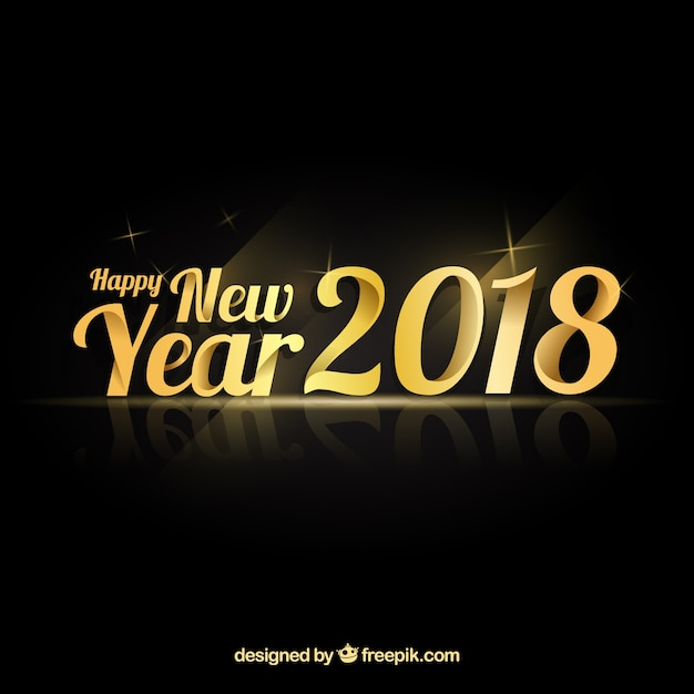 Elegant new year background with golden style