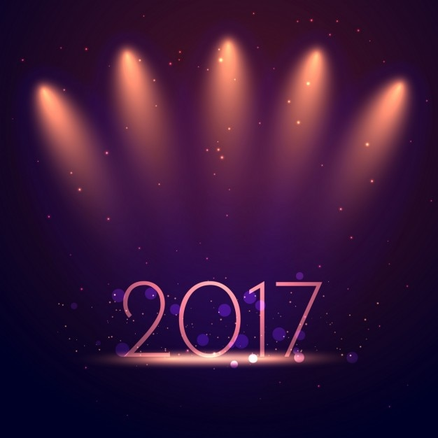 elegant new year background with show lights free vector
