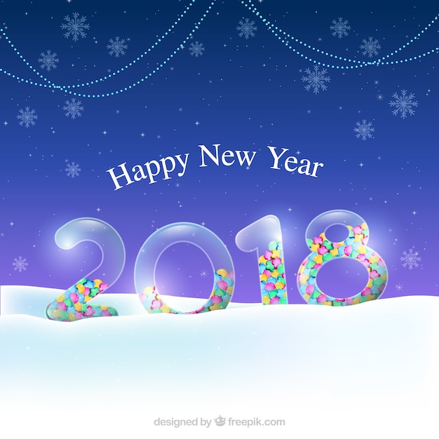 elegant new year background free vector
