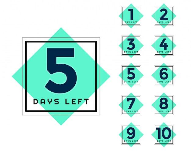 Elegant number of days left marketing and promotional banner Free Vector