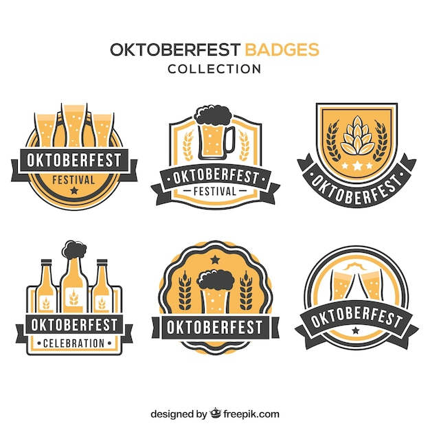 Elegant oktoberfest badges