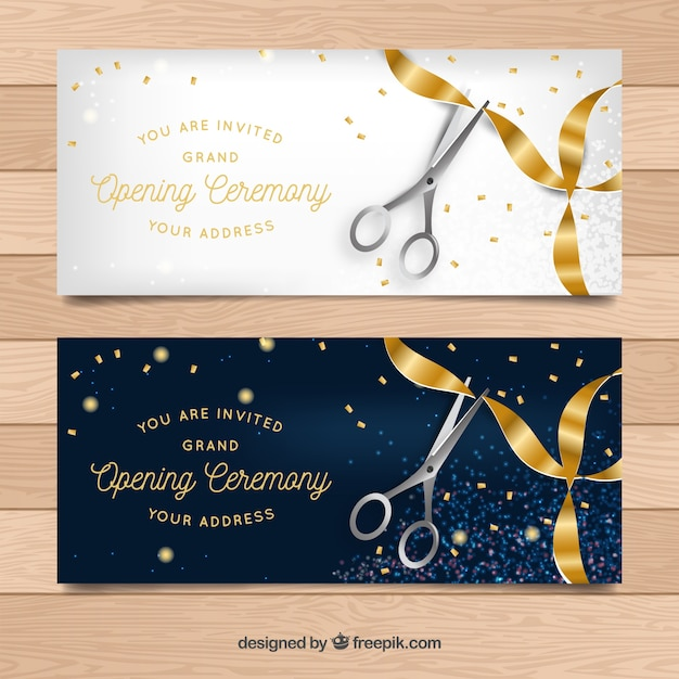 Elegant opening ceremony banners vector free download elegant opening ceremony banners free vector stopboris Images