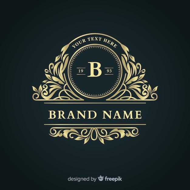 Elegant ornamental business logo template Free Vector