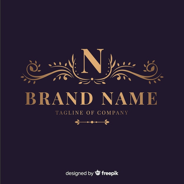 Elegant ornamental logo for company Free Vector