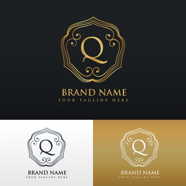 Organic Coffee Logo Collection: Elegant Ornamental Logo With The Letter Q Vector