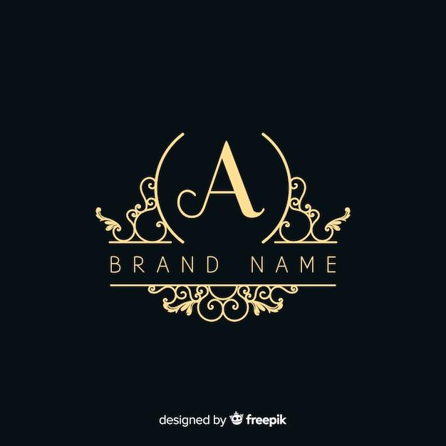 Elegant ornamental logo Free Vector