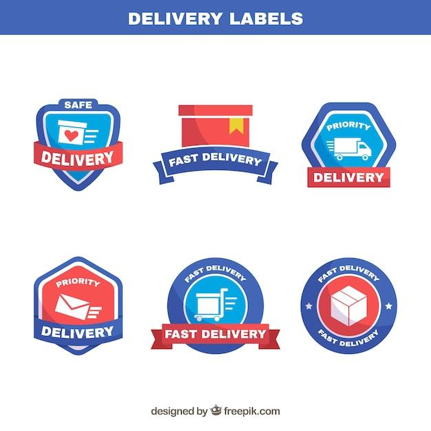 Elegant pack of delivery labels