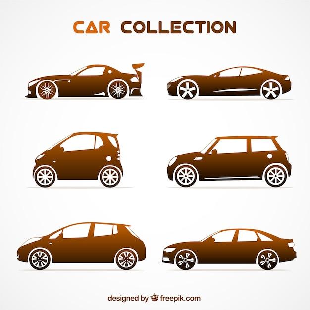 Elegant pack of modern cars