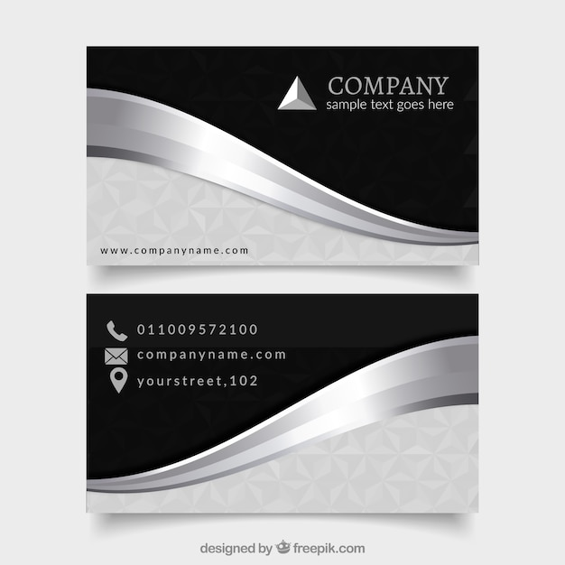 Elegant Pack Of Professional Silver Cards Free Vector