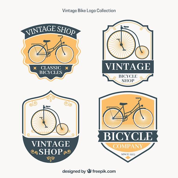 Elegant pack of vintage bike logos