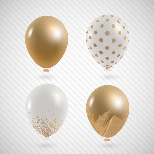 Elegant party balloons set Free Vector