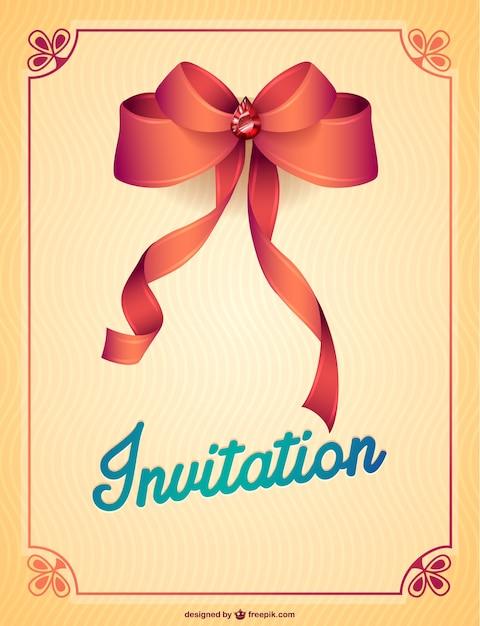 Elegant party invitation with red ribbon vector free download elegant party invitation with red ribbon free vector stopboris Gallery