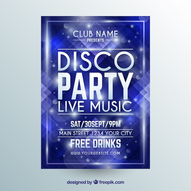 Elegant party poster with geometric shapes Free Vector