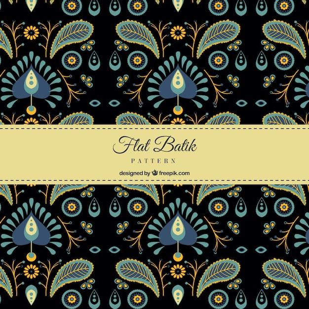 Elegant Pattern Retro Batik Vector