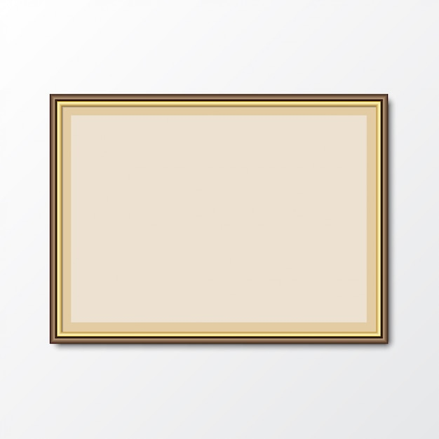Elegant picture photo frame with shadow. vector illustration Premium Vector