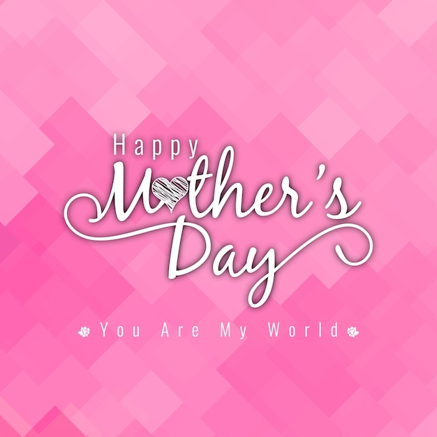 Elegant pink mothers day background Free Vector