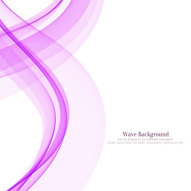 Elegant pink wavy background Free Vector