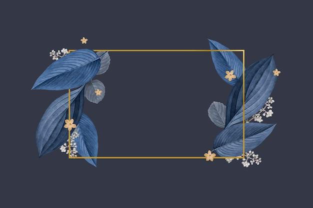 Elegant plant leaf frame Free Vector