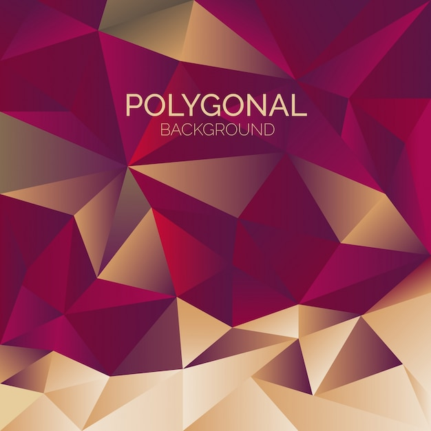 Elegant polygonal background Free Vector