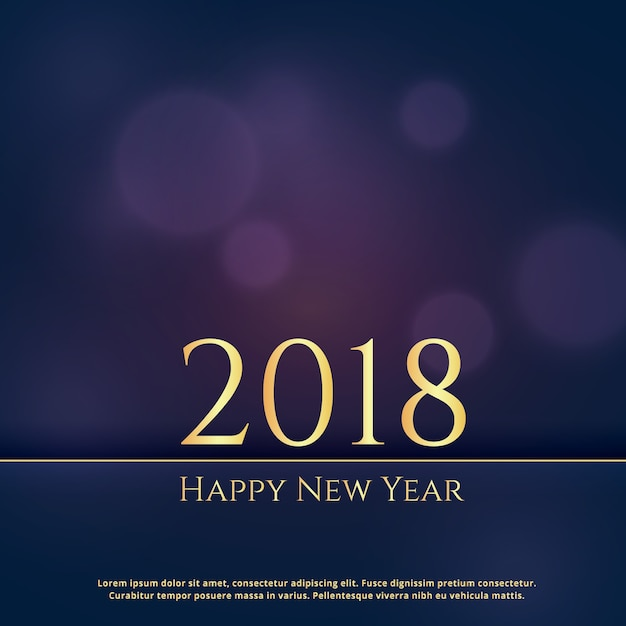 elegant premium 2018 new year greeting card design background free vector