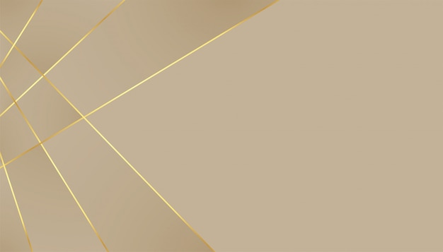 Elegant premium background with golden lines effect Free Vector