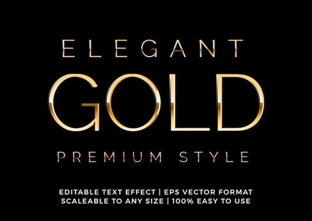 Elegant premium gold fancy text effect Premium Vector