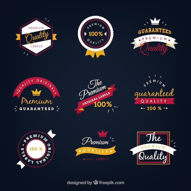 download vector elegant premium label collection vectorpicker