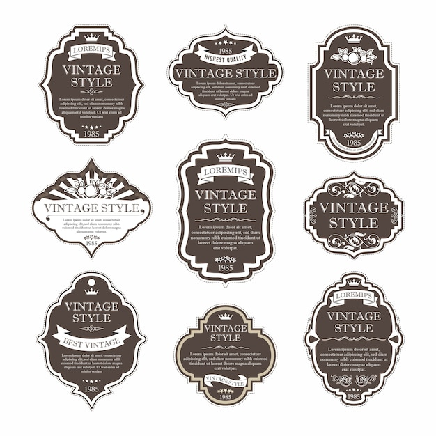 Elegant premium labels set collection Premium Vector
