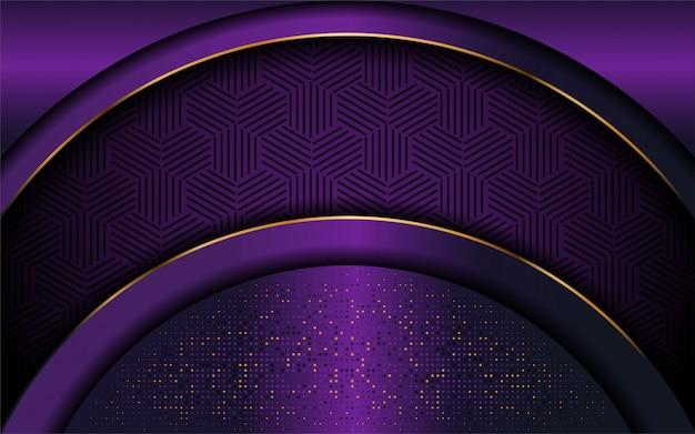 Elegant purple background with luxurious line shape Premium Vector