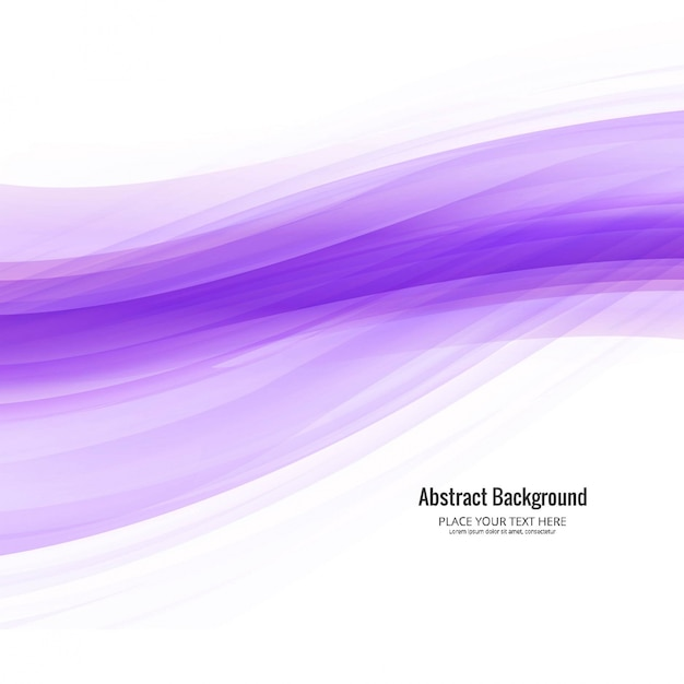 Elegant purple wavy background