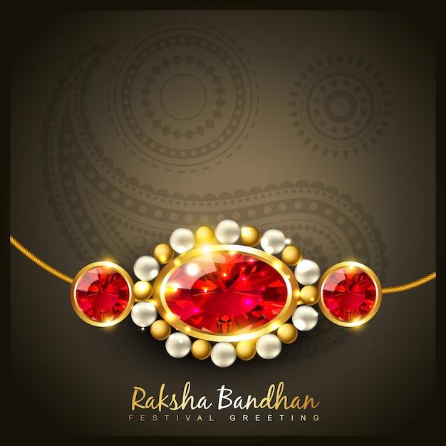Elegant raksha bandhan design Premium Vector