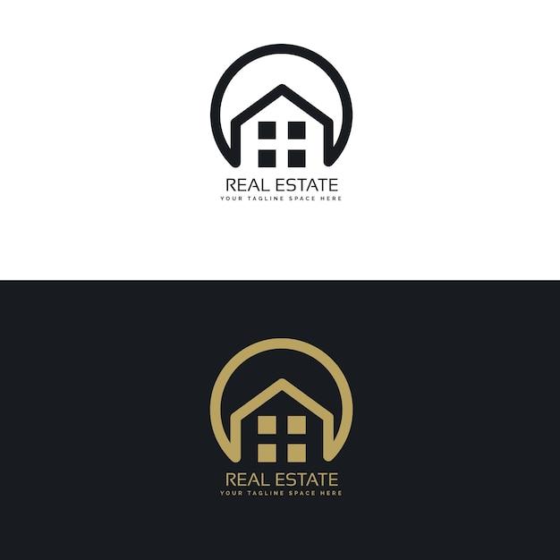 Elegant real estate logos