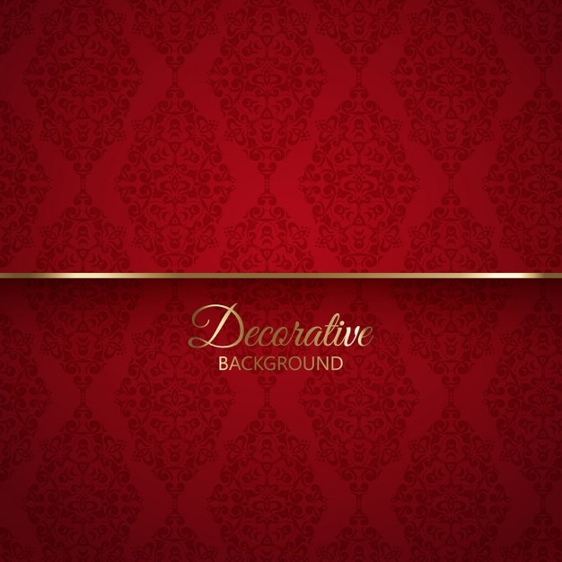 elegant red background with ornaments vector free download